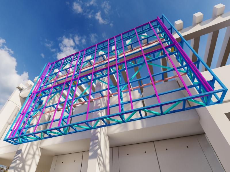 1401 Настенные конструкции. Общий вид